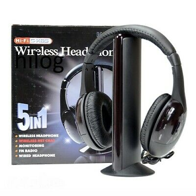 Dettagli su Cuffie Stereo Wireless 5 IN 1 Senza Fili WIFI Cuffia per Pc Tv Mp3 con MIC ALFFI
