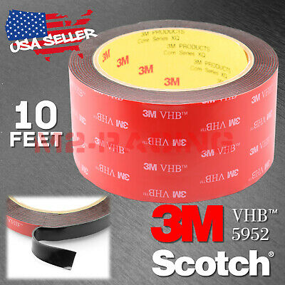 Genuine 3M VHB #5952 Double-Sided Mounting Foam Tape Automotive Car 50mmx10FT
