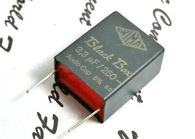 1pcs 630V 5/% pitch:27.5mm Capacitor NOS Genuine 100nF WIMA Black Box 0.1uF
