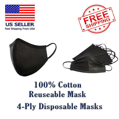 Black Fabric Face Cover