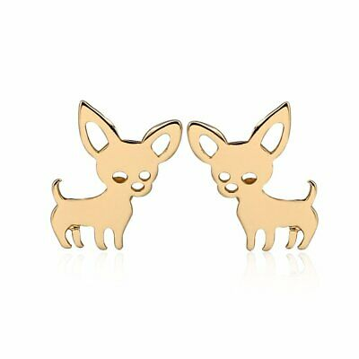 Bichon Frise White Puppy Dog Stud Earrings Enamel From the Ginger Lyne Collection
