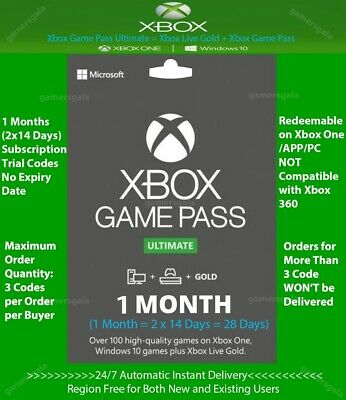 Xbox Live Gold + Game Pass (Ultimate) 1 Month (2x 14 Days) Code Instant Delivery