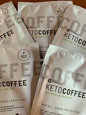 Limited Offer 🔥Keto Coffee By It Works 5 sachets, NEW PACKAGING
