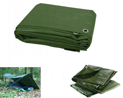 Green Heavy Duty Tarp Cover 13 SIZES Waterproof Caravan Camping Ground Sheet