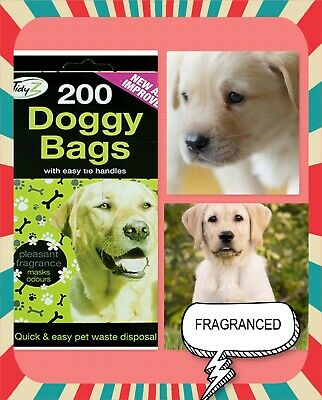Tidys Doggy Poop Bags With Handles - Pack of 200/400/1000/2000 -Scented