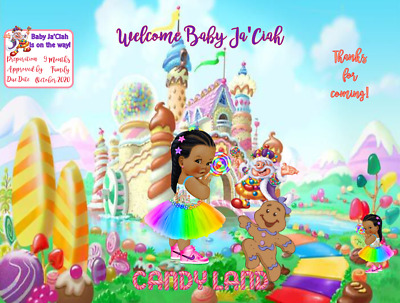 Candyland Party Favor Potato Chip Bags Candy Wrapper Water Bottle Labels