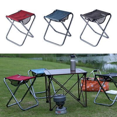 Large Folding Stool Super Strong Heavy Duty Outdoor Portable Folding Chair with