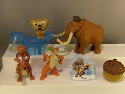 Complete Set of 10 2005 Ice Age Dinosaurs The Meltdown Burger King 2006 New