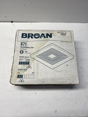 BROAN 671 VENTILATION FAN SQUARE NEW WALL OR CEILING MOUNT FREE SHIPPING