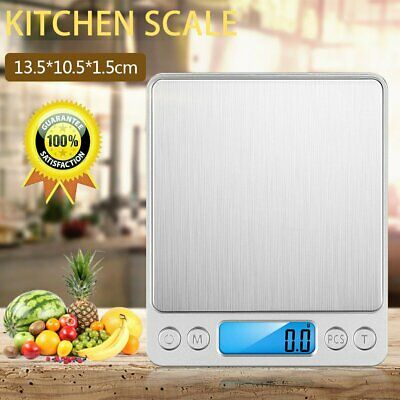 Portable 0.1g-3kg Digital Kitchen Scales Electronic LCD Postal Weight Food Scale