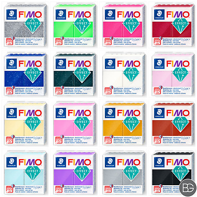 SALE Staedtler Fimo Effect 57g Blocks - Assorted Colours Random Pack of 6 Blocks