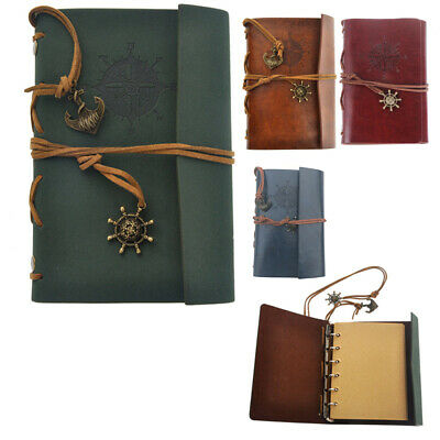 Retro Vintage PU Leather Cover Notebook Travel Journal Diary Diary Jotter Bo DI