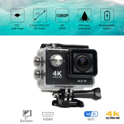 "Original H9 Action Camera Ultra HD 4K / 30fps WiFi 2.0"" 170D Gopro Sport Camera"