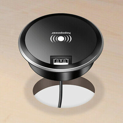 ML MINI POP UP RECESSED DUAL USB DESKTOP CHARGER POINT BRUSHED CHROME SK0010