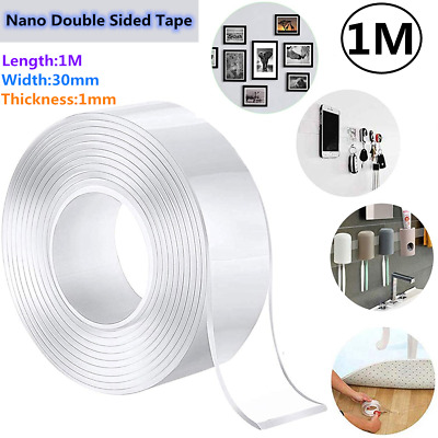 Nano Magic Double-Sided Tape Washable Reusable Adhesive Traceless Invisible Gel