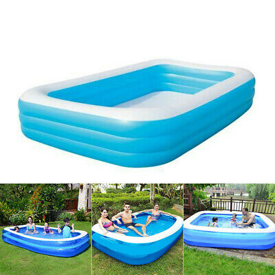 Extra Large Family Swimming Pool Garden Outdoor Inflatable Kids Paddling Pools