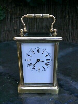 Antique 8 Day Brass French Carriage Clock