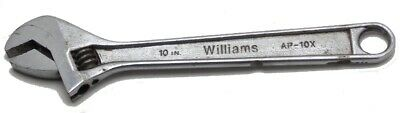 """Vintage Williams 10"""" Crescent Adjustable Wrench Model AP-10X Made in USA Used"""