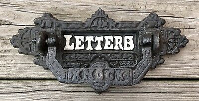 Cast Iron Front Door Vintage Letter Slot & Mail Door Knocker
