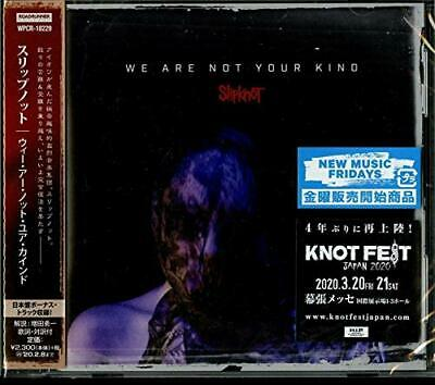 2019 SLIPKNOT WE ARE NOT YOUR KIND with Bonus Track CD Water Music Japan New F/S