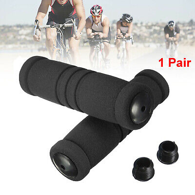 1Pair Sponge Foam Bicycle Handle Bar Grip Cover For Yellow Road Mountain P0D1