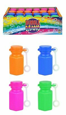 24 MINI BUBBLE MAGIC TUBS Pinata Toy Loot/Party Bag Fillers Childrens/Kids Gifts