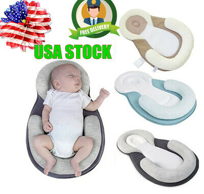 Infant Baby Pillow Sleep Cushio Cotton Pad Newborn Prevent Flat Head Anti Roll