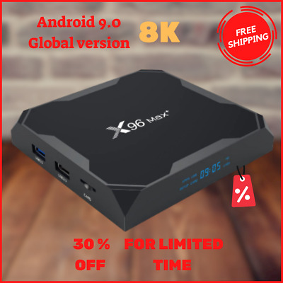 Max Plus Smart Tv Box For Android 9.0 64GB Quad Core 8K HD Set Wifi Media Player