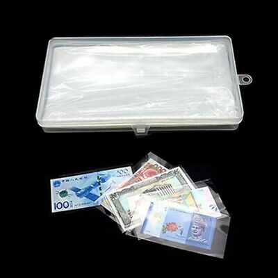 100 Grids Box Coin Capsules Clear Save Money Holder Transparent Simple Collect