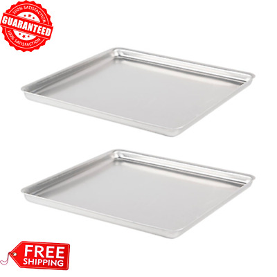 "(2-Pack) Heavy-Duty Square Deep Dish Pizza Cake Aluminum Bake Pan 16"" X 16"" X 1"""