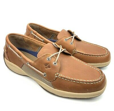 Size: 8,9,10,11,12,13 - Sperry Top Sider Men's Intrepid Leather Boat Shoes