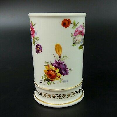 Antique English Hand Painted Fine Porcelain Spill Vase C.1840