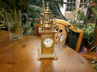 German Made ,Brass, Unusual Mantle Clock ,