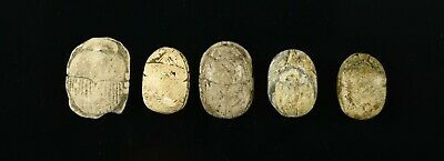 Lot of Five (5) Museum Quality Ancient Egyptian Scarabs