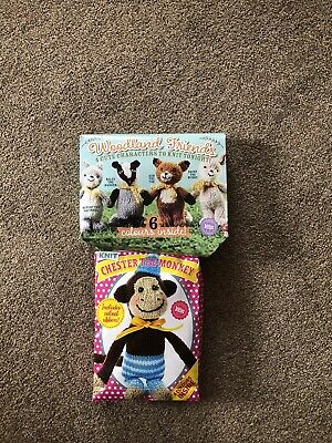 Two Knit Kits - Chester The Monkey And Woodland Friends