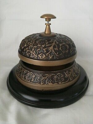 Antique style brass desk bell. New.