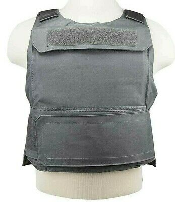 VISM Discreet Plate Carrier Vest 2XL-3XL Tactical Shooting Range Hunting GRAY-