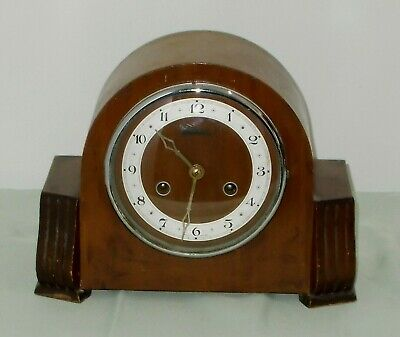Antique Art Decor 2 Hole Chiming Mantle Clock For Spares, Repair Or Display