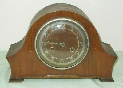 Antique 2 Hole Chiming Mantle Clock For Spares, Repair Or Display