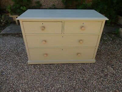 Victorian Chest Of Drawers --Painted F&B French Grey --