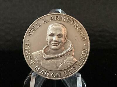 Neil Armstrong First Man on the Moon MEDAL July 20th 1969 from ITALY