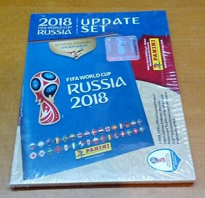 World Cup RUSSIA 2018 -  Update Set 92 stickers + 4 Extra stickers MINT