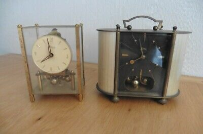 TWO c1950s GERMAN MADE 400 DAY ANNIVERSARY CLOCKS - KUNDO AND KOMA FOR SPARES