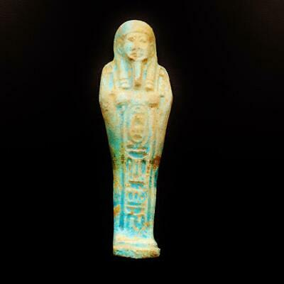 Amazing Antique Egyptian Stone Faience Ushabti (Shabti) Statue Figure