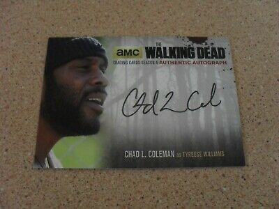 The Walking Dead season 4  AUTHENTIC AUTOGRAPH TYREESE WILLIAMS card CLC2