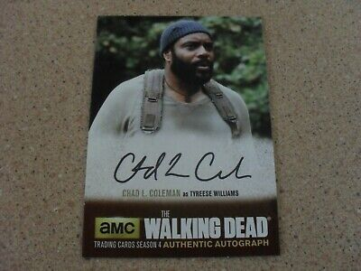 The Walking Dead season 4  AUTHENTIC AUTOGRAPH TYREESE WILLIAMS card CLC1
