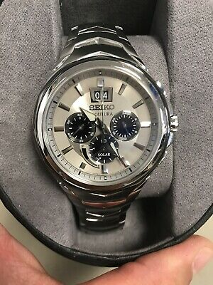 Seiko SSC627 Coutura Chronograph Solar Powered Silver Dial Men's Watch