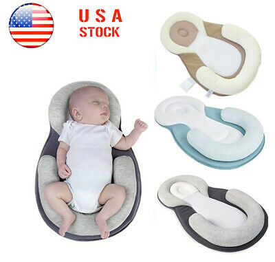 Baby Pillow Sleep Cushion Newborn Crib Prevent Flat Head Anti Roll Mattress