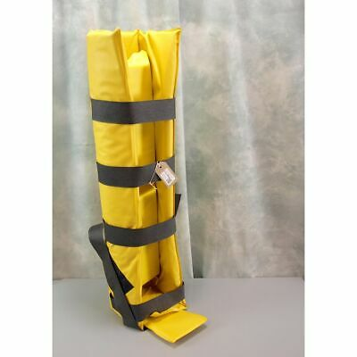 Yellow Loxley box Splint with Straps & packing bolster