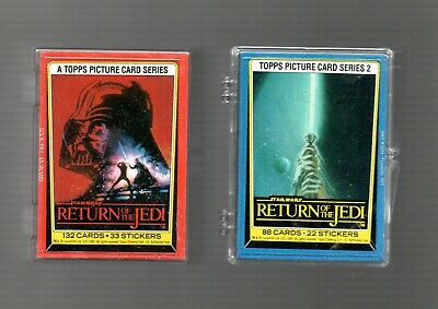 2x  card sets as pictured - star wars return of the jedi 1& 2